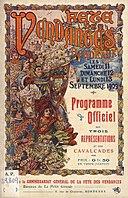 Bordeaux fête-des-vendanges 1909 Affiche