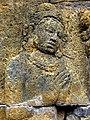 Borobudur - Lalitavistara - 073 W, King Bimbisara offers food to the Bodhisattva (detail 1) (11249482356).jpg