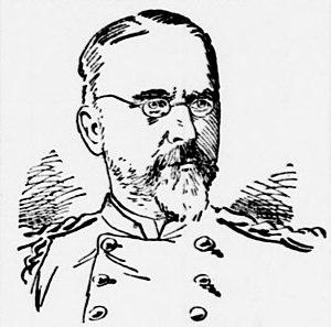 Oliver Bosbyshell - 1893 woodcut of Bosbyshell in National Guard uniform