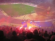 Bosnia Soccer Fans at King Baudouin Stadium Brussels.jpg