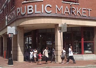 Boston Public Market - Main entrance to the Boston Public Market