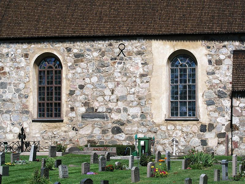 Botkyrka kyrka Church side wall.jpg