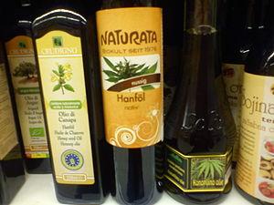 Hemp oil - Image: Bottles of hemp oil