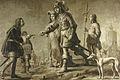 Boudewijn van Heusden (?-870) en zijn echtgenote Sophia, ontvangen eerbewijzen van de gezant van koning Edmund Rijksmuseum SK-A-959.jpeg