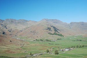 Great Langdale - Bow Fell at the head of Great Langdale