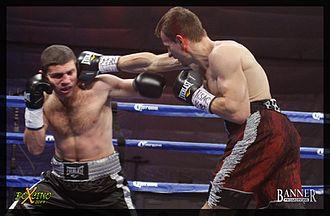 Petr Petrov (boxer) - Petrov (right) vs. Papazov, 2014