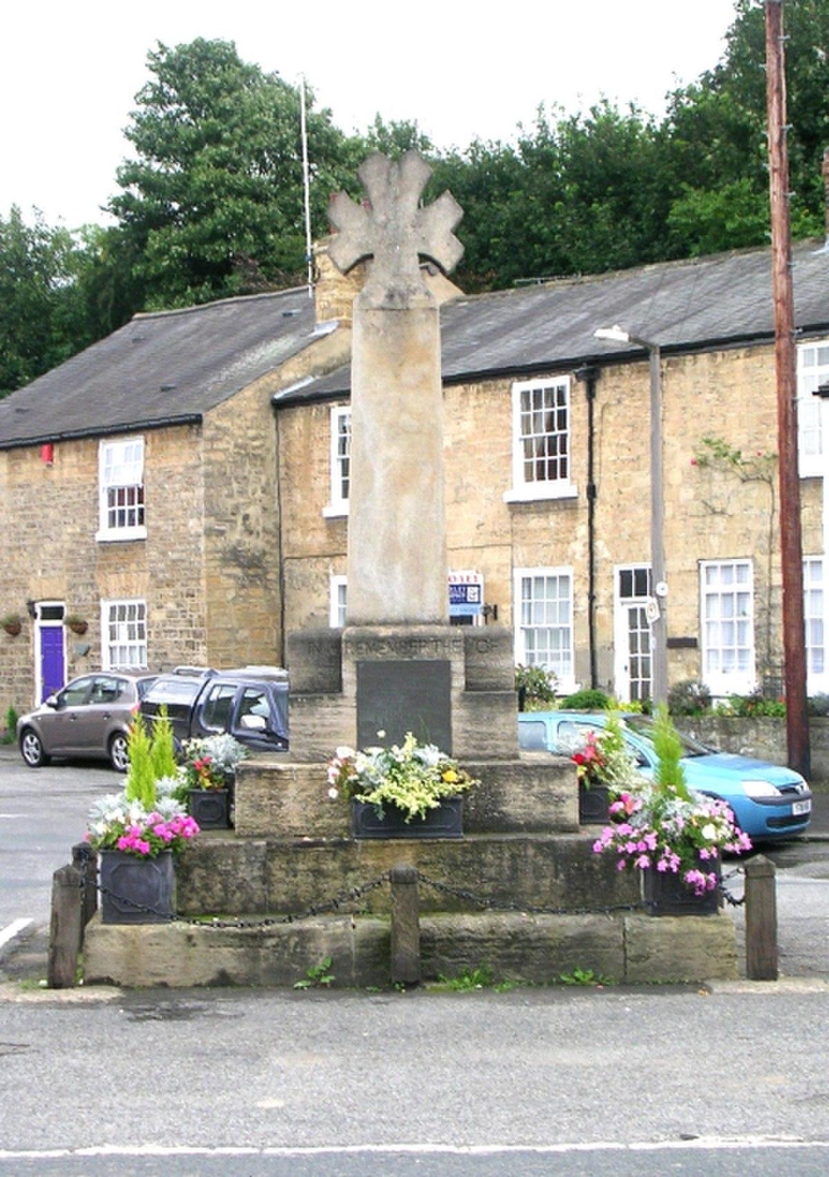 Bramham War Memorial - Tenter Hill - geograph.org.uk - 949810.jpg