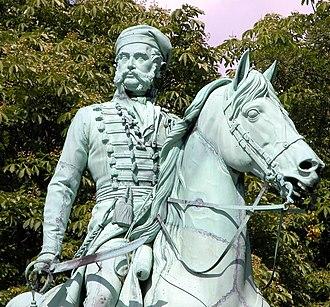 Frederick William, Duke of Brunswick-Wolfenbüttel - Statue of Frederick William at Braunschweig, by Ernst Julius Hähnel