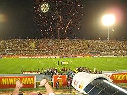 Previa a un partido de la Copa América 2007 en el Pachencho Romero