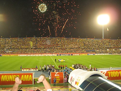 Aftermath of a match in the 2007 Copa America, held for the first time in Venezuela. Brazil vs. Uruguay Semifinals Copa America 2007 - 2.jpg