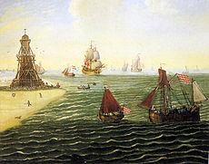 Bremer Bake und Tonnenleger auf der Außenweser - 1790.jpg