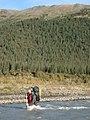 Brett crosses the Teklanika (6795725150).jpg