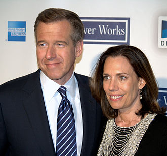 Brian Williams - Williams and his wife, Jane, in 2009