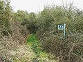 Bridleway entrance, north of Bushton - geograph.org.uk - 1187945.jpg