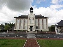 Brissy-Hamégicourt (Aisne) mairie à Brissy.JPG