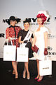 Brittney McGlone & Aimee La Rocca & Jacinda Webster at 2012 BMW Sydney Carnival.jpg