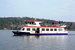 Brno, přehrada, U kotvy, loď Lipsko (02).jpg