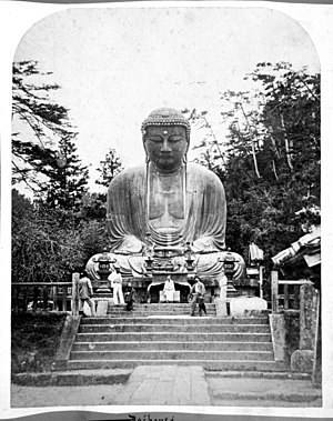 Kōtoku-in - One of the earliest photographs of the Great Buddha, by Felice Beato (1867)