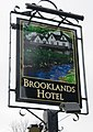 Brooklands Hotel sign - geograph.org.uk - 1764198.jpg