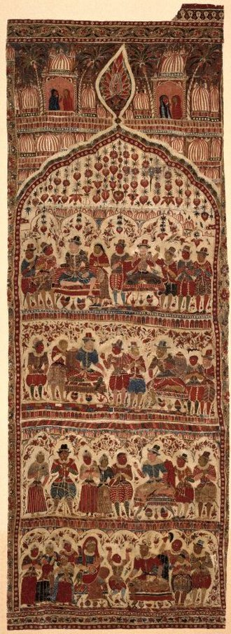 Kalamkari - Kalamkari wall hanging, early 17th century. Brooklyn Museum
