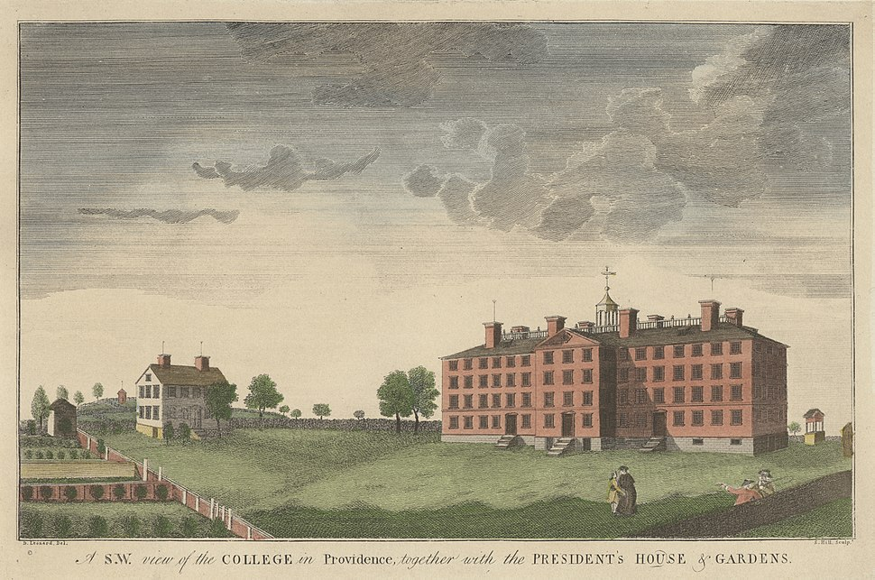 Brown University 1792 engraving