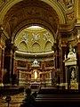 Budapešť, katedrála svatého Štěpána, vnitřek chrámu.JPG