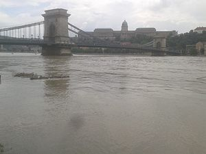 2013 European floods - Flooding in Budapest, Hungary on 5 June 2013