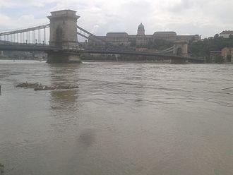 2013 European floods - Flooding in Budapest, Hungary on 5 June 2013