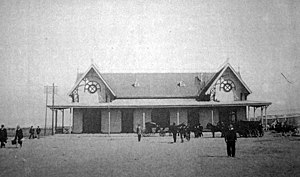 Buenos Aires Belgrano Sur Line railway station - The station, c. 1911.