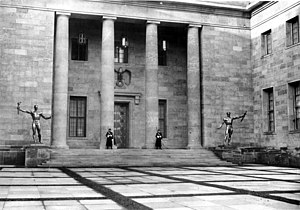 Nazi architecture - Albert Speer's New Reich Chancellery, completed in 1939.