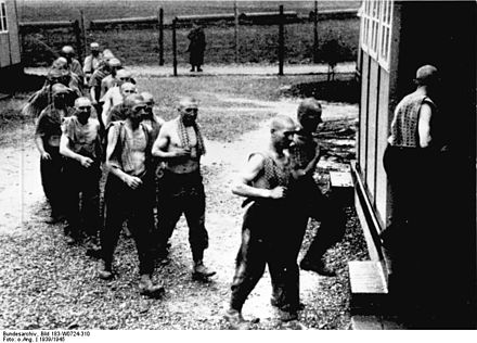 Poles deported for forced labour in a camp in Germany proper Bundesarchiv Bild 183-W0724-310, Polnische Zwangsarbeiter.jpg