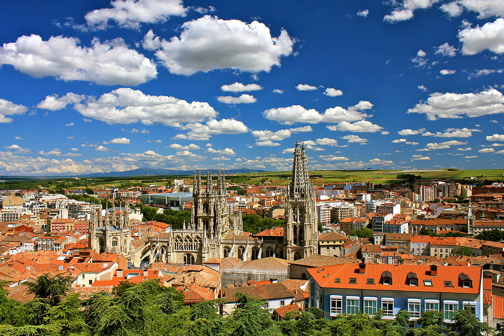 Burgos city view facing south east