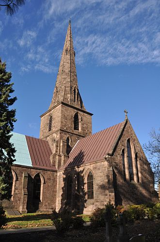 St. Mary's Episcopal Church, Burlington, New Jersey - Image: Burlington NJ New St Marys Church 03