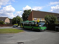 Bus turning at Snape Wood - geograph.org.uk - 3006774.jpg