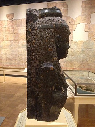 Bust of Cleopatra - Notice the large back pillar protruding from the back of the sculpture and base of the crown on the top of the head