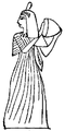 Ancient Egyptian Woman Playing Drum