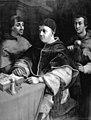 C.A. Jensen - Pave Leo X og kardinalerne Ludovico de' Rossi og Giulio de' Medici. Kopi efter Rafael - KMS41 - Statens Museum for Kunst.jpg