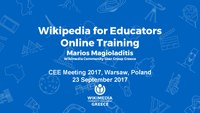 Wikipedia for Educators Online Training