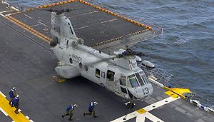 "CH-46 ""Sea Knight"" an Bord der USS Saipan"