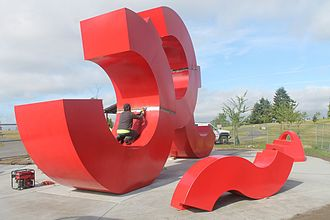 Jefferson Park (Seattle) - 'Skate-Space' sculpture by CJ Rench