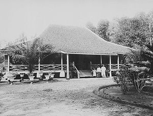 Subang, Indonesia - Residence of a Dutch plantation manager in Subang (1930's)