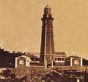 Balabac Island - Cape Melville Lighthouse on the southern point of Balabac Island, circa 1892