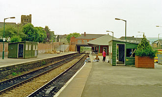 Caerphilly railway station - The station in 1990