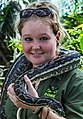 Cairns Wildlife Dome Python and Handler-05 (8240102732).jpg