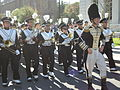 Cal Band en route to Memorial Stadium for 2008 Big Game 06.JPG
