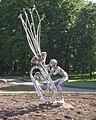 Caldecott Park, Rugby, new sculpture - geograph.org.uk - 1332251.jpg