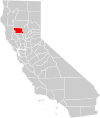 California county map (Glenn County highlighted).svg