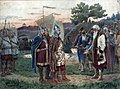 Calling of varangians by A.Krivshenko (1889) color.jpg
