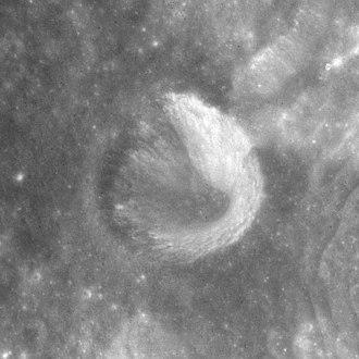 Cameron (crater) - Apollo 15 mapping camera image