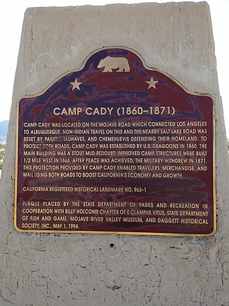 Camp Cady - Historical Marker for Camp Cady